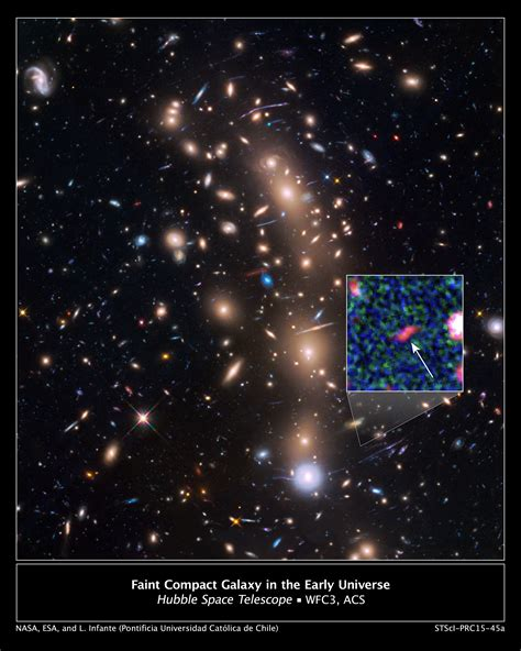see it with a small telescope 101 cosmic wonders including planets moons comets galaxies nebulae clusters and more books magnified image of the faintest galaxy from the early