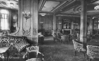 titanic class the first class lounge on the rms titanic 1912 vintage
