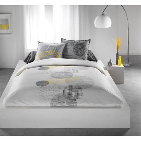 Modern White Duvet Cover Housse Couette Grise Blanche