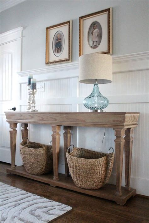how to style a console table get the look coastal console simple stylings how to