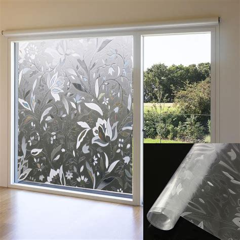 decorative window stickers for home 45x100cm recyclable frosted glass home window film 3d