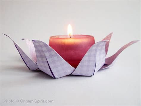 Origami Candle - origami modular origami used as a