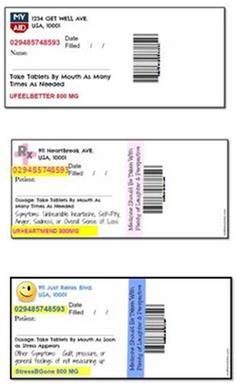 Blank Medication Labels Template Pictures To Pin On Medication Label Template