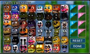 Fnaf world 2 0 concept halloween editon animatronics and playable