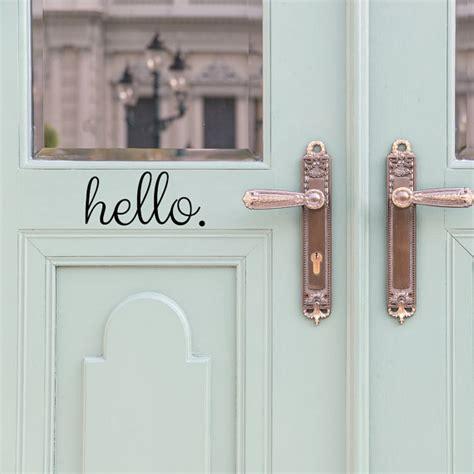 Hello Door Decal Door Decals Door Stickers Door Decal Front Door Decals