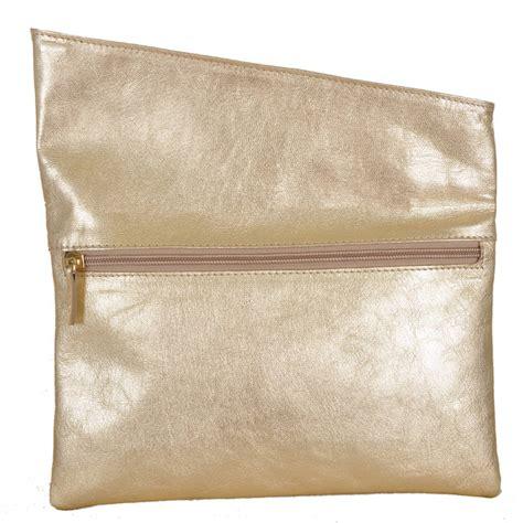 Envelope Clutch Gold gold metalic envelope clutch by vondie will