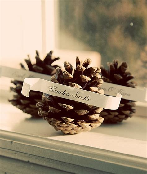6 pc pine cone place card holder set 43 best winter wedding ideas images on pinterest winter