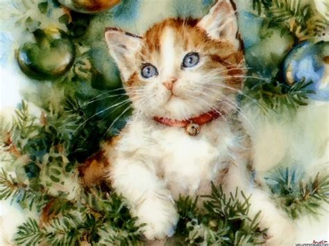 images of christmas cats vintage kitty christmas cards the czech