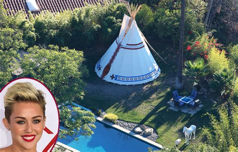 digs miley cyrus erects 25k teepee in the