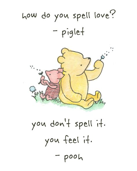 tattoo wuotes winnie the pooh and piglet quote wall watercolor painting