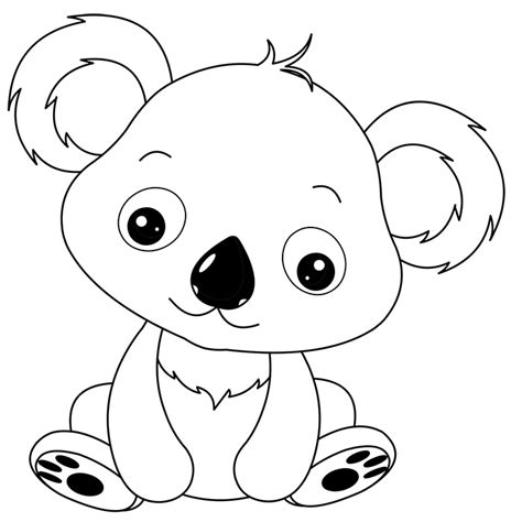 Free Coloring Pages Of Beanie Boo Koala Koala Coloring Page
