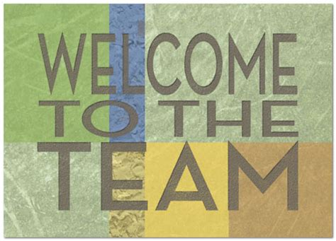 welcome to the team card template team welcome card employee welcome cards posty cards inc
