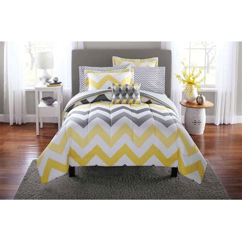 yellow bed comforter grey and yellow chevron bedding www imgkid com the