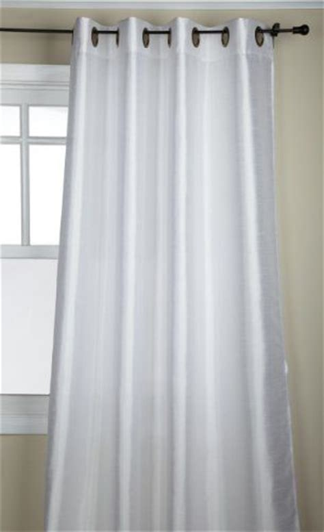 white faux silk drapes stylemaster tribeca 56 by 120 inch faux silk grommet panel