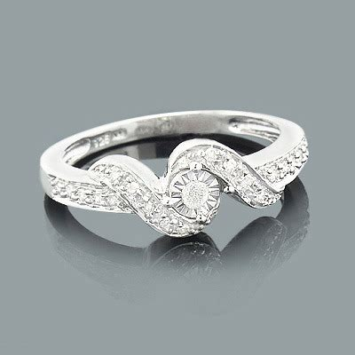 Billige Verlobungsringe by Cheap Engagement Rings Sterling Silver Ring 0 25ct