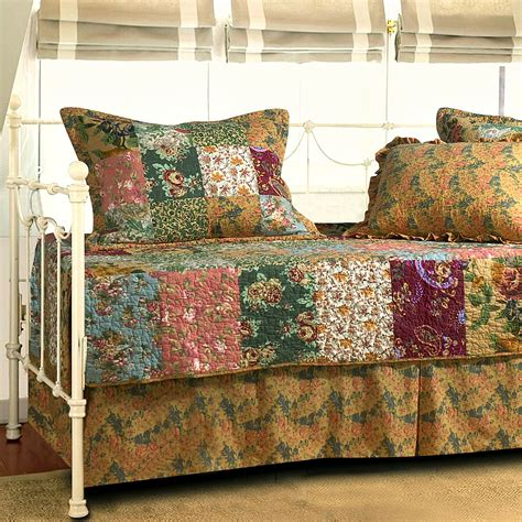 quilted bed sets antique chic patchwork quilted daybed cover set