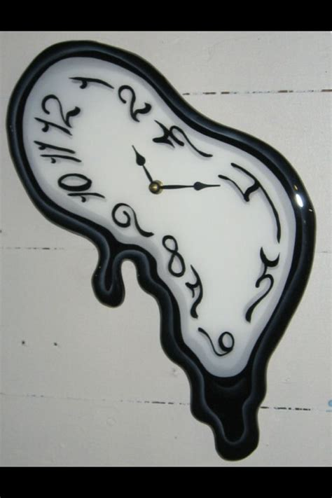 melting clock art inspiration pinterest clocks and