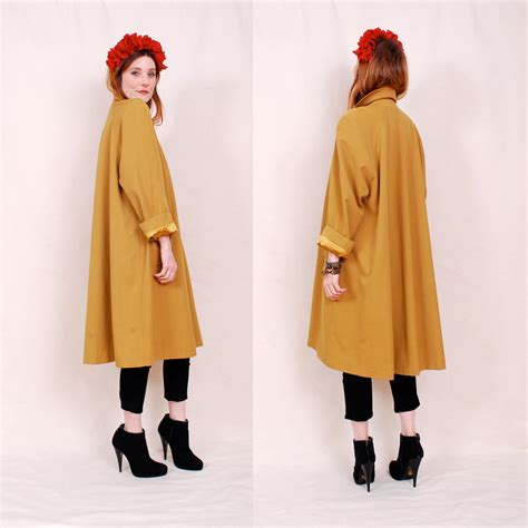 Vintage Swing by Reserved Vintage Luxurious 60 S Swing Coat Bold