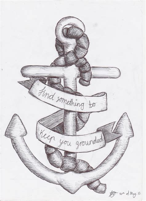 anchor pattern drawing anchor tattoo design by sempeternally on deviantart