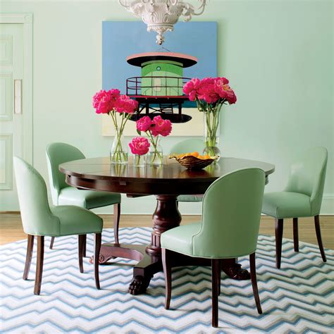 colorful palm beach house  unique dining room