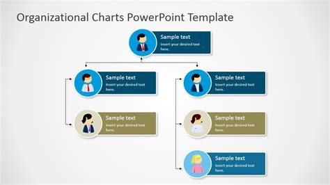 chart powerpoint template vertical org chart tree diagram slidemodel