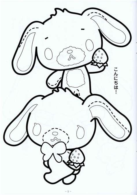 kawaii japanese coloring pages kawaii sugarbunnies coloring book sanrio japan memo pads