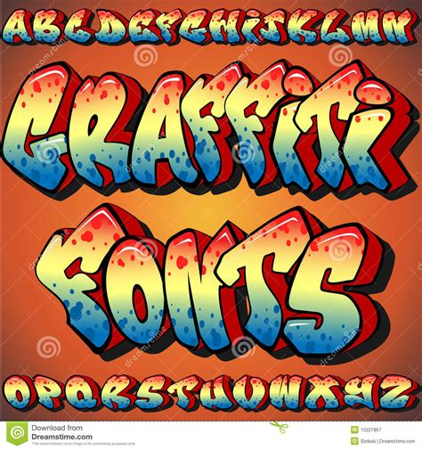 graffiti fonts royalty  stock photography image