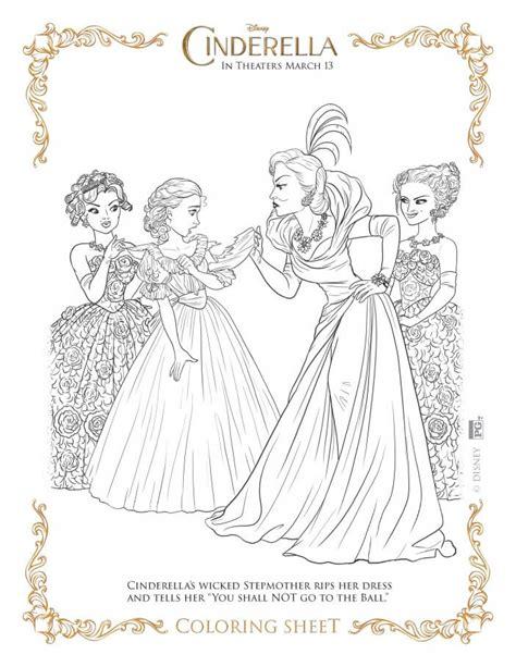 printable version of cinderella cinderella coloring pages highlights along the way