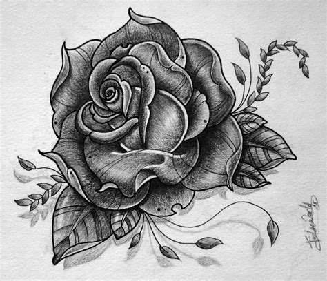 rose pattern tattoo design by gabchik on deviantart