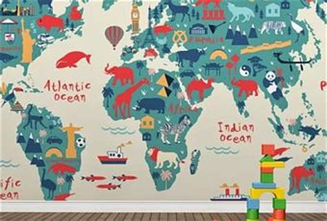 Navigator Mural Map - world map wallpaper murals paperblog