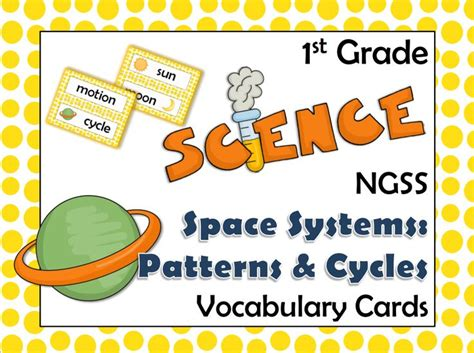 pattern words 1st grade ngss 1st grade science vocabulary cards space systems