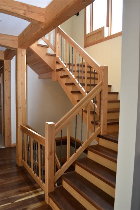 Stair Stair Design Idea With Walnut Treads Combine With