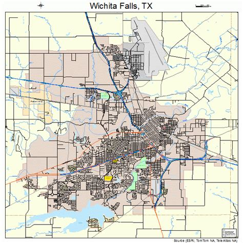 where is wichita falls texas on map wichita falls texas map 4879000