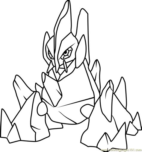 Pokemon Coloring Pages Gigalith | gigalith pokemon coloring page free pok 233 mon coloring