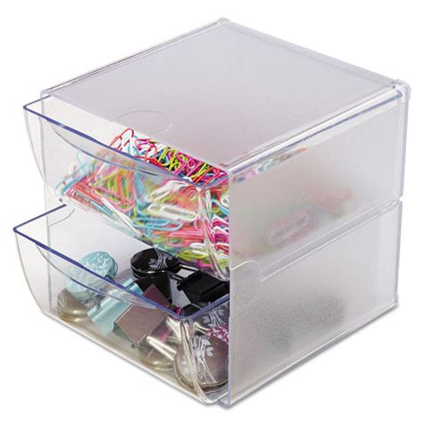 Clear Organizer Drawers by Two Drawer Cube Organizer Clear Plastic 6 X 7 1 8 X 6