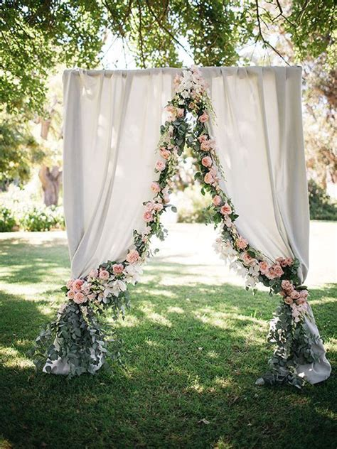 draped wedding arch 20 draped ceremony arches southbound bride