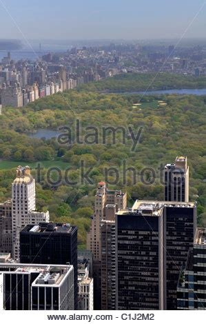 Aerial View Of Central Park In Near Columbus Circle