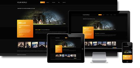 your world black responsive joomla 3 x template free