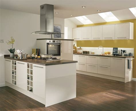 Kitchen Island Extractor by Greenwich Gloss Ivory Kitchen Universal Kitchens