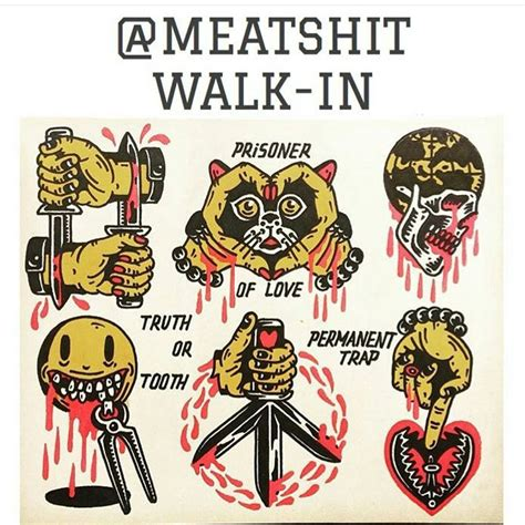 walk in tattoo nyc meatshit is doing walk in tattoos polaris today
