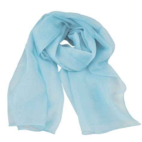 plain light blue chiffon scarf from ties planet uk