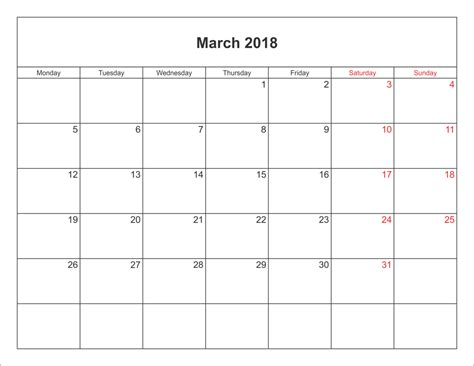 printable calendar for march 2018 march 2018 printable calendar printable calendar templates