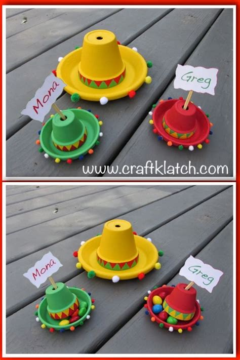How To Make A Mexican Sombrero Out Of Paper - craft klatch 174 diy easy cinco de mayo sombreros how to