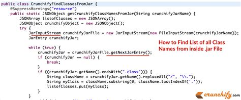 tutorial java reflection in java how to find list of all class names from inside