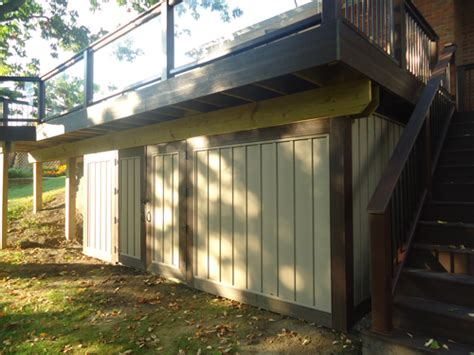 How To Build A Shed A Deck by Exceptional Shed Deck 12 Deck Storage Shed