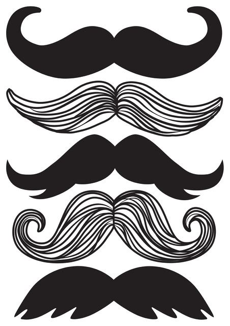 printable mustache stickers mustache wall art decal kit contemporary wall decals