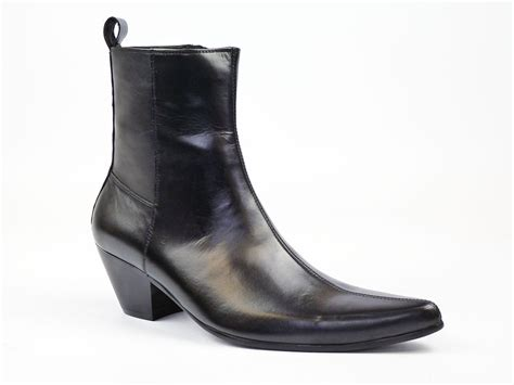 mens beatle boots new mod retro sixties mens cuban heel chelsea beatle boots