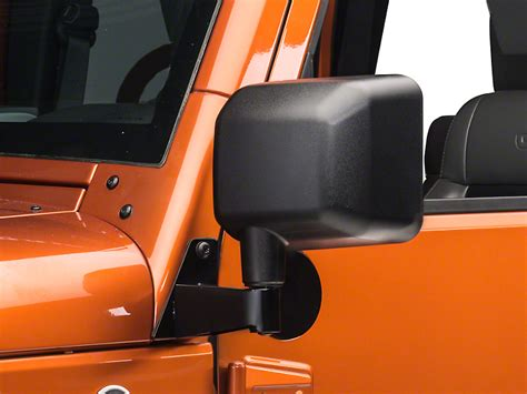 jeep mirror relocation rugged ridge wrangler black mirror relocation brackets