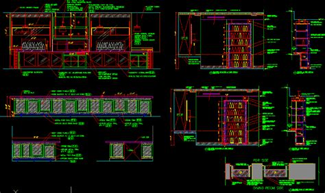 restaurant millwork details  dwg detail  autocad