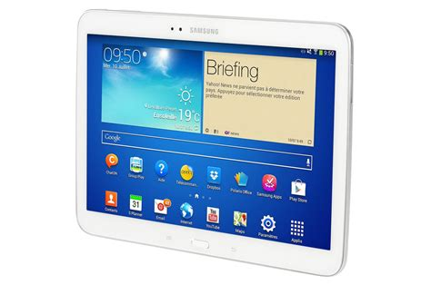 format video samsung galaxy tab 3 tablette tactile samsung galaxy tab 3 blanc 10 1